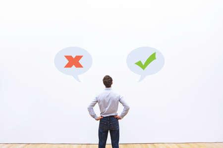 concept autorisé ou interdit, bonnes ou mauvaises pensées, pensée positive