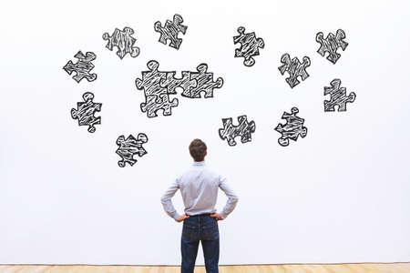 assemblaggio puzzle, concetto di business