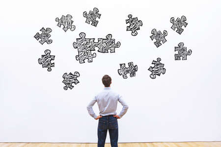 montaje de rompecabezas, concepto de negocio