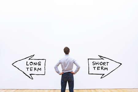 long term vs short term concept 写真素材