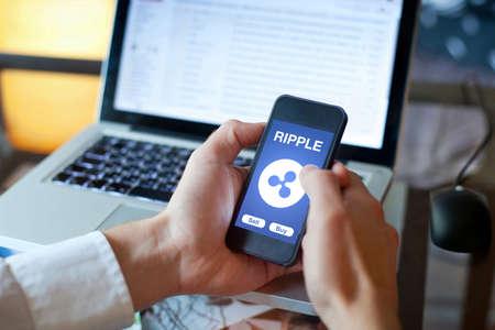 モバイルデジタルウォレットのリップルコイン暗号通貨