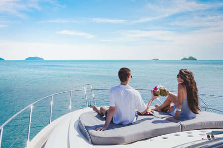 honeymoon on luxury yacht, luxurious lifrestyle and travel, romantic holidays for couple
