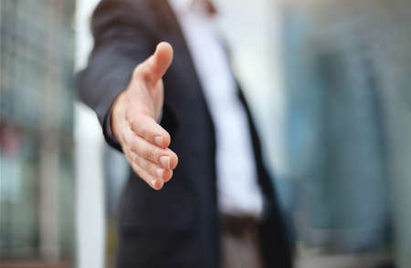 business deal proposal, recruitment, businessman offer hand for handshake and cooperation Zdjęcie Seryjne