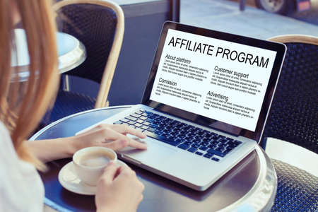 affiliate marketing program concept