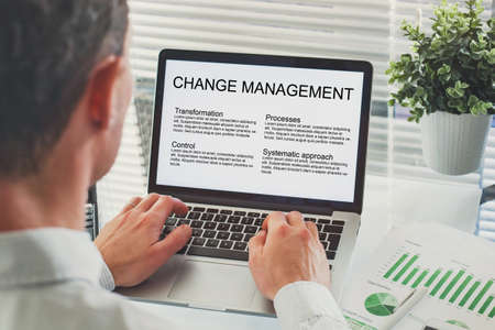 Change management concept, transformation or transition in business company
