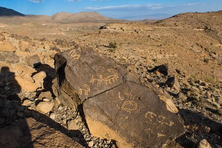 cave drawings inancient village Meymand in Kerman province, Iran