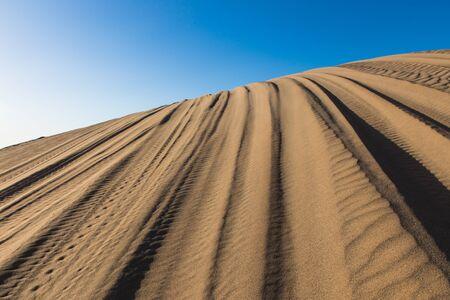 evening wind patterns in sand desert Bafgh in Yazd, Iran Reklamní fotografie