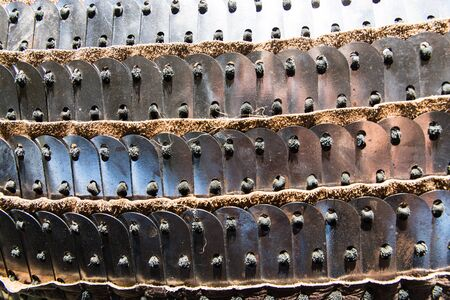 elements of traditional kazakh chain mail used by nomadic tribes in Kazakhstan