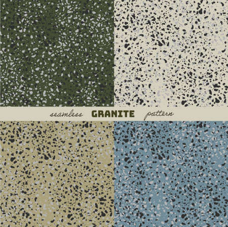 Seamless pattern. The texture of granite. Four background options.
