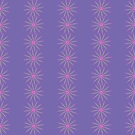Pattern of shimmering stars on a purple background. 向量圖像