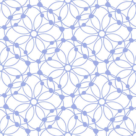 Lace. Geometric seamless pattern in the form of weaving of threads. Illustration