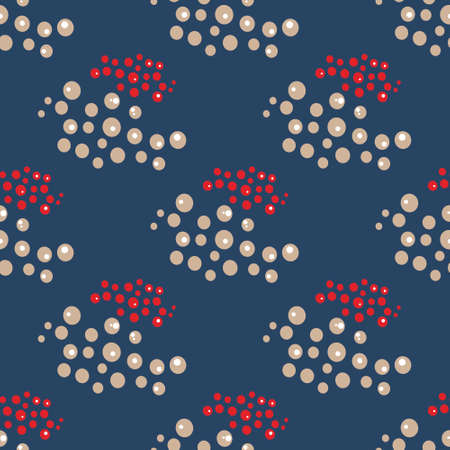 Seamless pattern of groups of dots on a dark background. Ilustrace