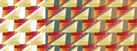 Bright pattern made of triangles with a texture on the three options of background. Imagens - 124893063