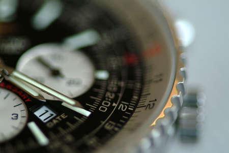 cronografo: Fuerte someras de campo de reloj de pulsera Breitling Chronograph del disparo, con especial atenci�n a la fecha ventana.