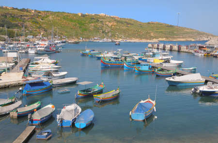 fishermens: Fishermens boats in Mgarr port on Gozo island, Malta