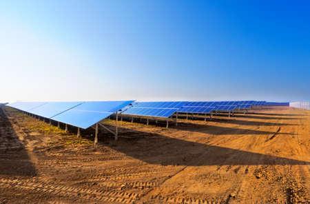 costruction: Field of solar panels uder costruction