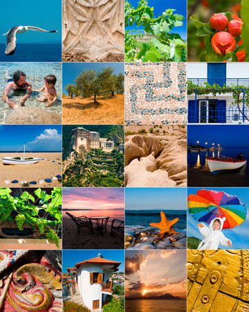 Collage from pictures taken in Halkidiki, Northern Greece Stock Photo - 10282792
