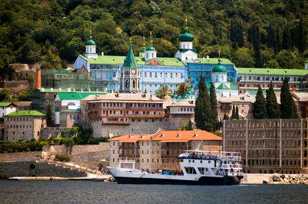 panteleimon: St Panteleimon (the Russian Monastery), Mount Athos, Macedonia, Greece Stock Photo