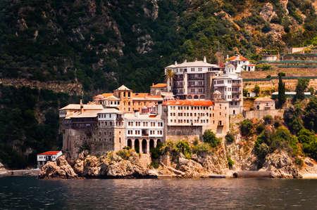 Monastery Agia Grigoriou on mount Athos, Chalkidiki, Greece