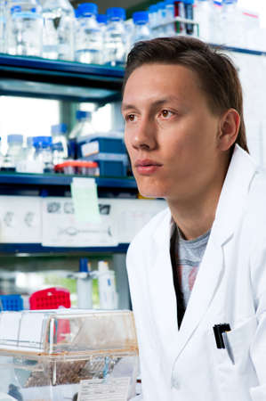Young scientist in modern biological laboratory Stock Photo - 14533314