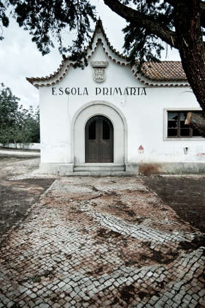 Abandoned rural school building in Portugal photo