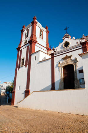 portugese: Traditional Portugese church in a bright sunny morning