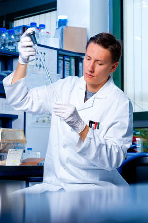Young scientists works in modern laboratory Stock Photo - 14866327