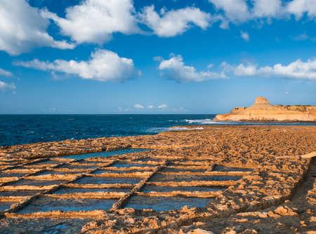 gozo: Salt pans near Zebbug, Gozo island, Malta