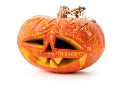 pumpkin face: Jack O Stock Photo