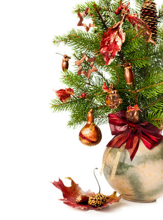 Xmas bouquet in round vase Stock Photo - 16057544