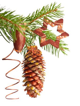 Handmade Xmas tree decorations Stock Photo - 16057545