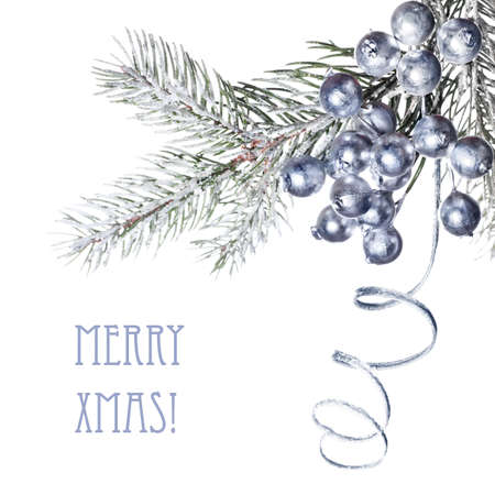 Close-up op versierde kerst takje