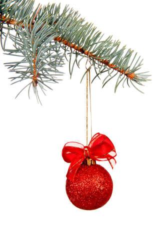 tweak: red christmas ball on a tweak
