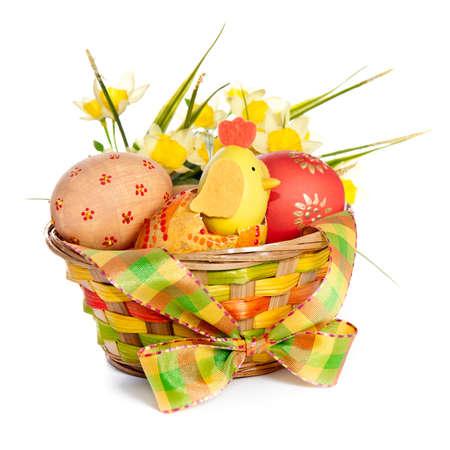 decoraton: Colorful Easter basket decoration