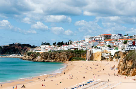 Beach of Albufeira City Western Portugal