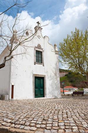 alte: Rural church in Alte village, Algarve, Southern Portugal