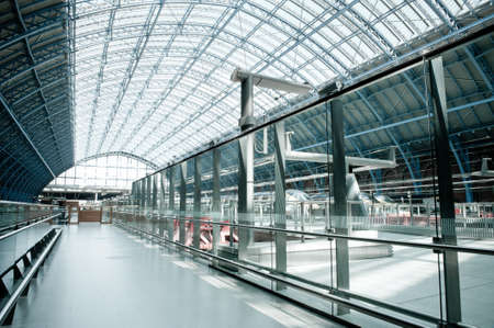 Eurostar terminal at Kings Cross St  Pancras station photo