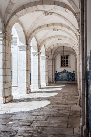 stone arches: Stone arches in Monastery of St. Vincent Outside the Walls, or Iglesia de Sao Vicente de Fora in Lisbon, Portugal