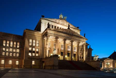 music hall: Berlin, Concert House on Gendarmenmarkt Square at night
