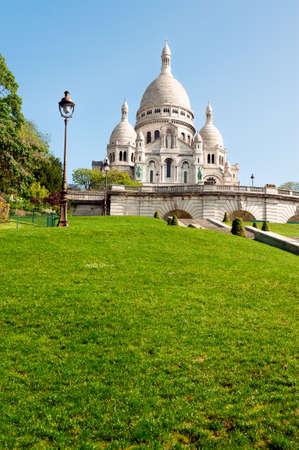 coeur: Sacre Coeur Cathedral in spring