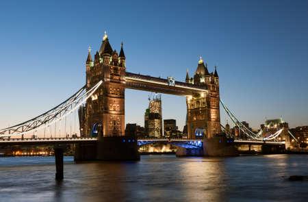 London, Tower bridge at night photo