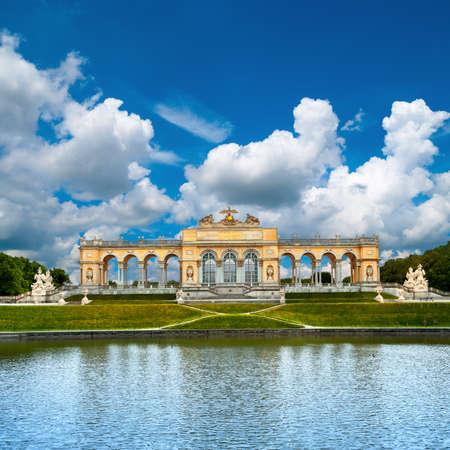 schonbrunn palace: The Gloriette in Schonbrunn Palace Garden, Vienna