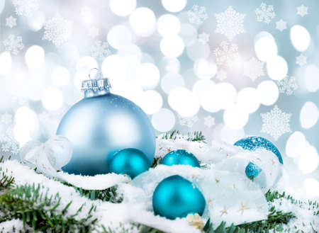 Xmas decorations on abstract background photo
