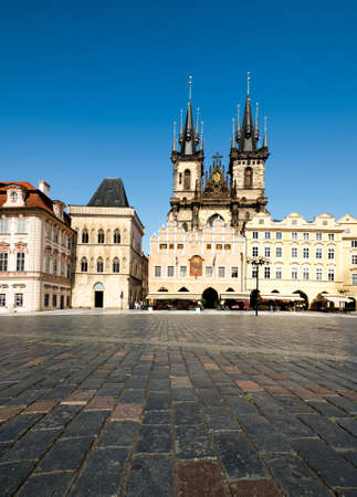 tyn: The Church of Our Lady before Tyn on Old Town Square in Prague