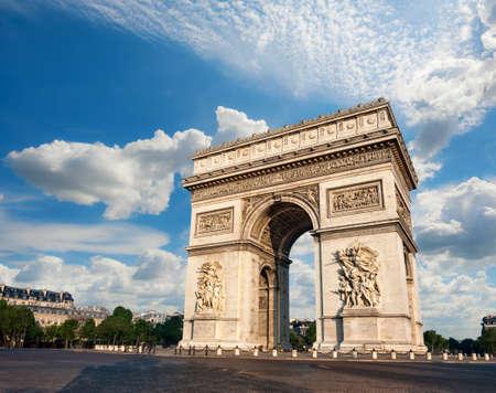 Arc de Triumph in Paris, France Stock Photo