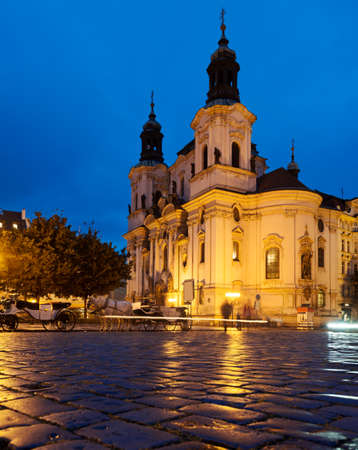 nicolas: St  Nicolas Church in Prague at night