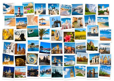 Podróże w Europie i charakter kolażu Publikacyjne