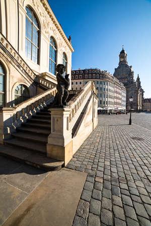 frauenkirche: Technisches Museum und Frauenkirche in Dresden, Deutschland