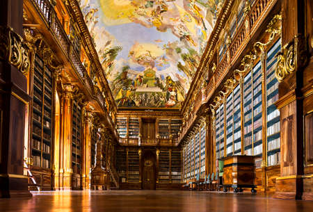 prague:  Historical library of Strahov Monastery in Prague, Philosophical Hall Editorial