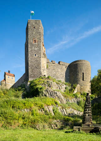13th century: Old castle from 13th century in Stolpen, Saxonian Switzerland, Germany
